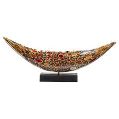 Midnight Quillon, a Unique Glass Sculpture by James Devereux & David Patchen