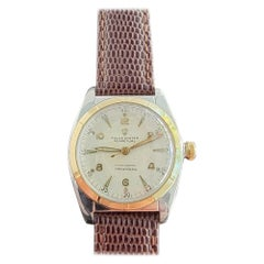 Midsize Rolex Oyster Perpetual Ref 5011 14k Gold & SS Automatic 1940s MA205