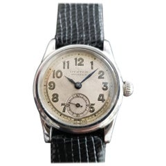 Midsize Rolex Oyster Pioneer 3373 Hand-Wind Military Watch, circa 1930s MA190BLK