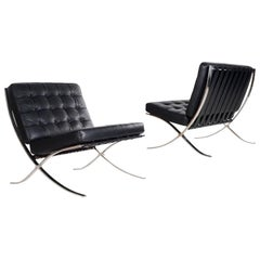 Mies Van Der Rohe 1929 Barcelona Chair for Knoll International, Black