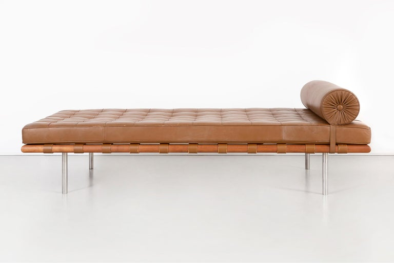 Modern Mies Van Der Rohe Barcelona Couch for Knoll For Sale