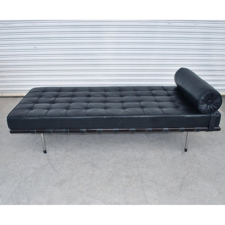 Leather Mies van der Rohe Brazilian Artesian Classic Daybed For Sale