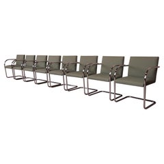 Mies van der Rohe Brno Club Chairs, Set of Eight