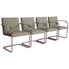 Mies Van Der Rohe Brno Club Chairs, Set of Four