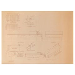 Mies van der Rohe Design Drawing, Couch