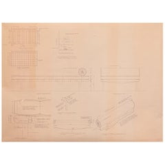 Mies van der Rohe Design Drawing, Daybed