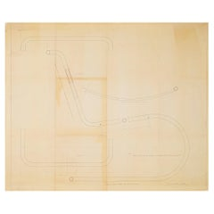 Mies van der Rohe Design Drawing, MR Lounge Chair