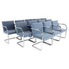 Mies Van Der Rohe for Gordon International BRNO MCM Tubular Arm Chair, Set 12