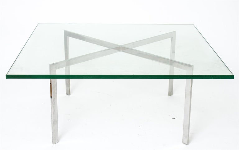 Bauhaus Mies van der Rohe for Knoll Barcelona Coffee Table For Sale