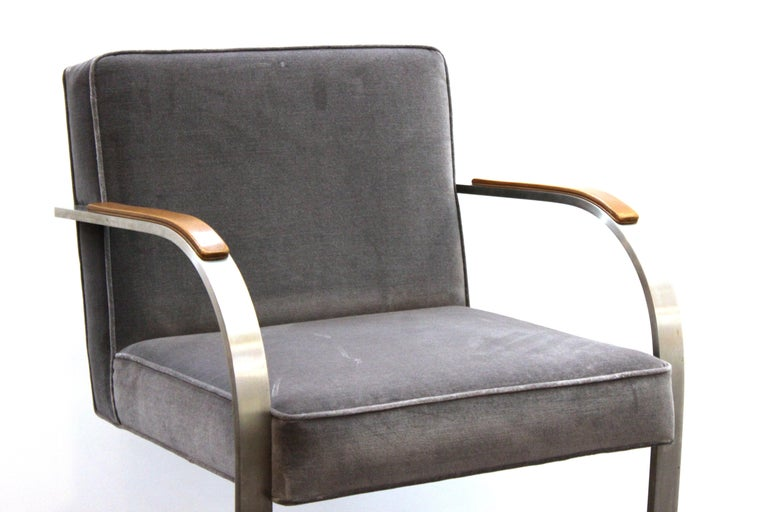 Modern Mies van der Rohe for Knoll Brno Armchairs For Sale