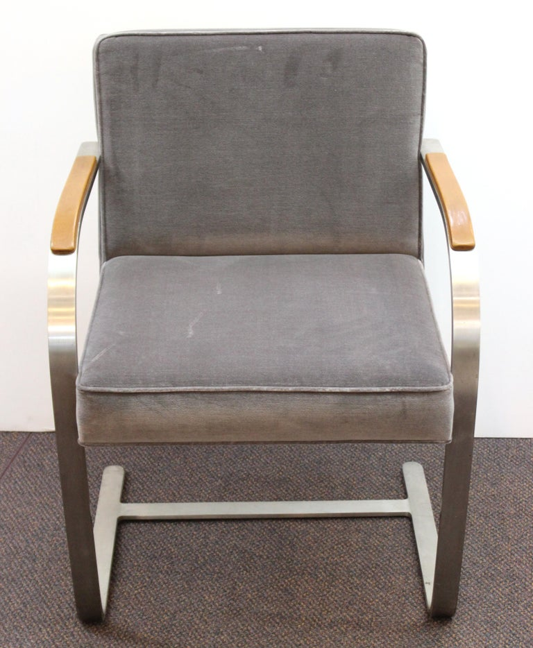 American Mies van der Rohe for Knoll Brno Armchairs For Sale