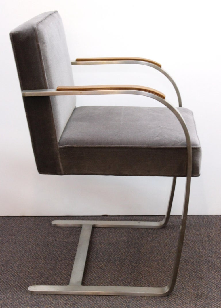 Mies van der Rohe for Knoll Brno Armchairs For Sale 1