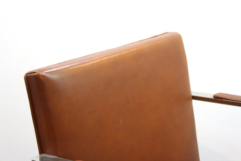 Mies Van Der Rohe For Knoll Modern Brno Leather Armchairs For Sale 3