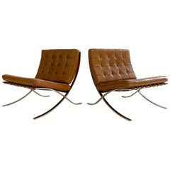Mies van der Rohe Gerald R. Griffith Barcelona Chairs, Pair
