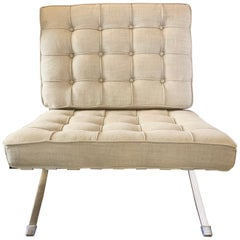 Mies van der Rohe Mid-Century Modern Barcelona Upholstered Chair