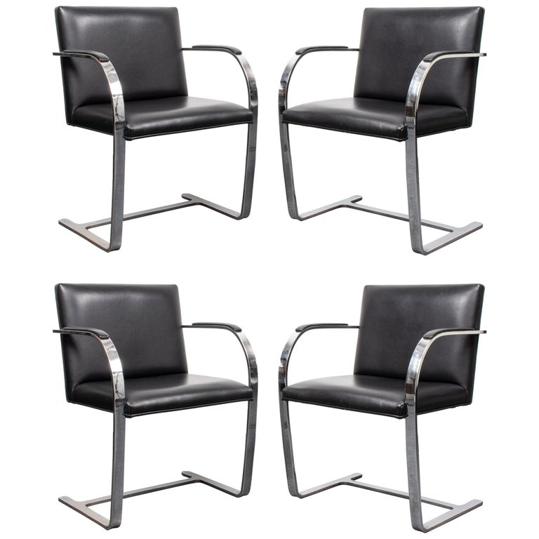 """Mies van der Rohe Modernist """"Brno"""" Chairs For Sale"""