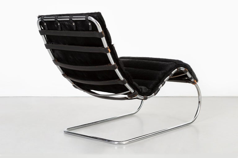 American Mies van der Rohe MR Chaise for Knoll Reupholstered in Brazilian Cowhide For Sale