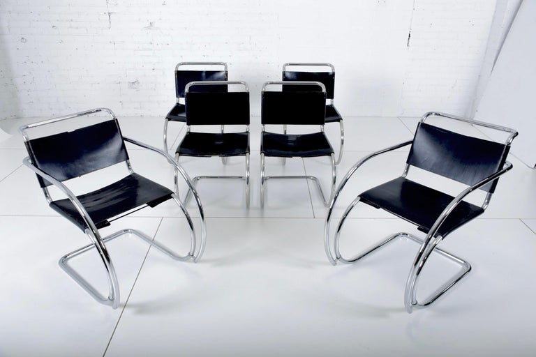 Mies van der Rohe MR10 Chairs for Knoll For Sale 3
