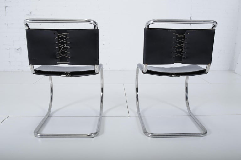 American Mies van der Rohe MR10 Chairs for Knoll For Sale