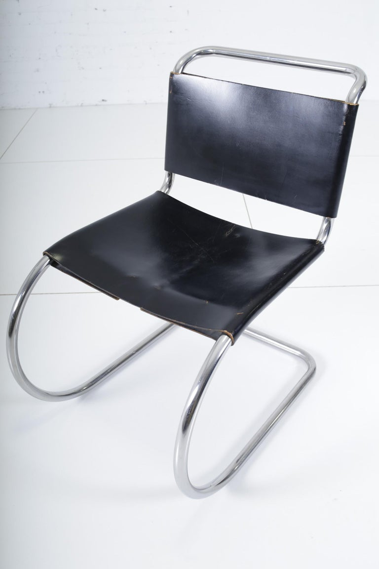Mid-20th Century Mies van der Rohe MR10 Chairs for Knoll For Sale