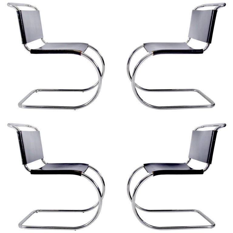 Mies van der Rohe MR10 Chairs for Knoll For Sale