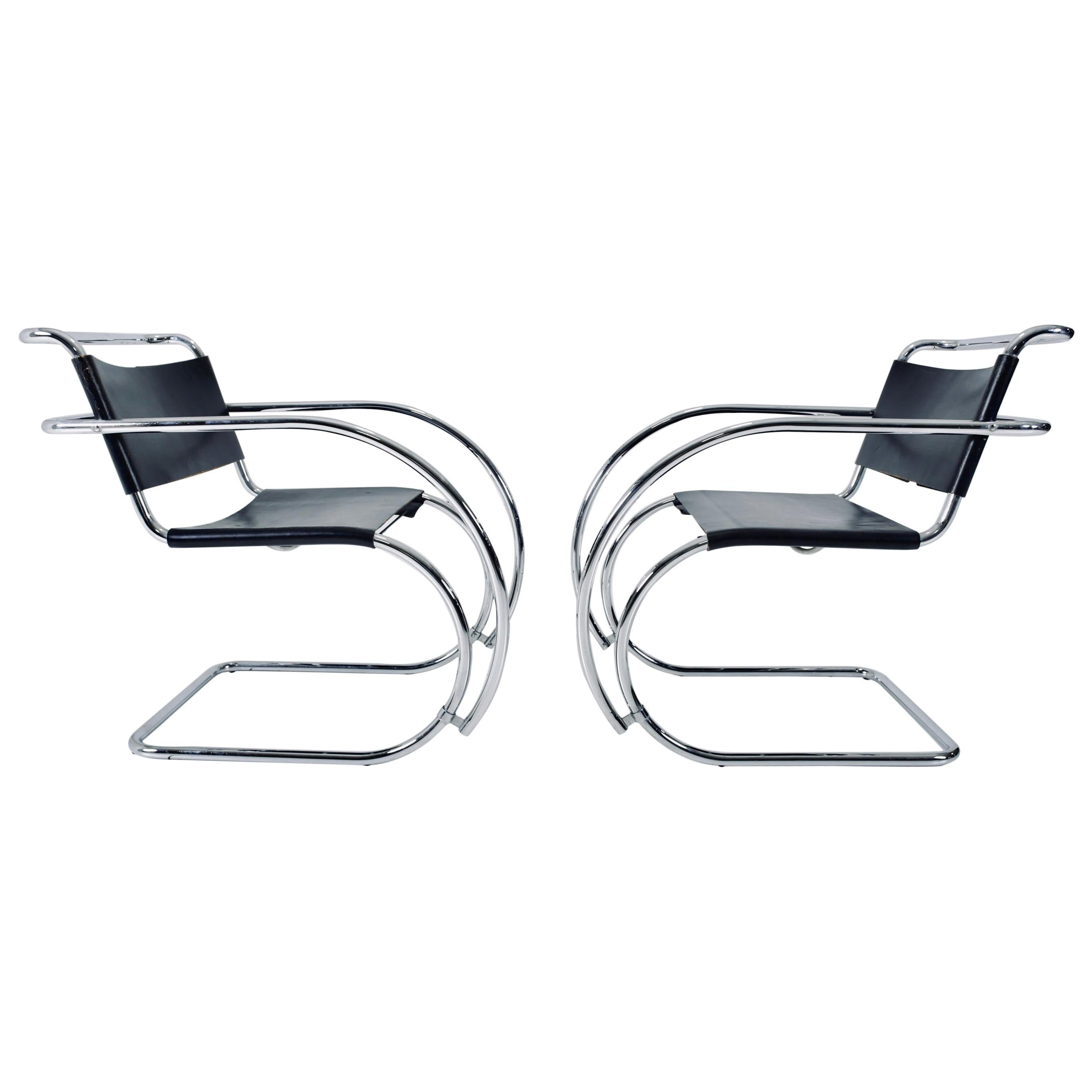 Mies van der Rohe MR20 Armchairs for Knoll