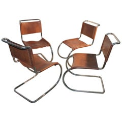 Mies van der Rohe Vintage Cantilever Chairs, 1970s