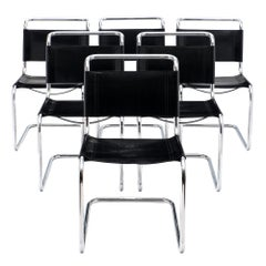 Mies Van Der Rohe Style Vintage Dining Chairs for Knoll
