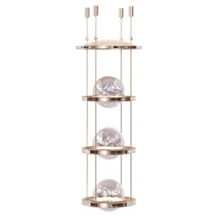 Miessa Grand Vertical Chandelier with Art-Deco Vibes for High-Ceiling Space