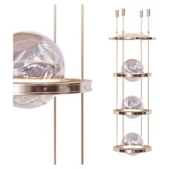 Miessa Small Vertical Chandelier for High-Ceiling Space with Art-Deco Vibe