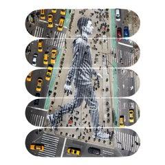 Migrants, Walking... Skateboard Decks by JR