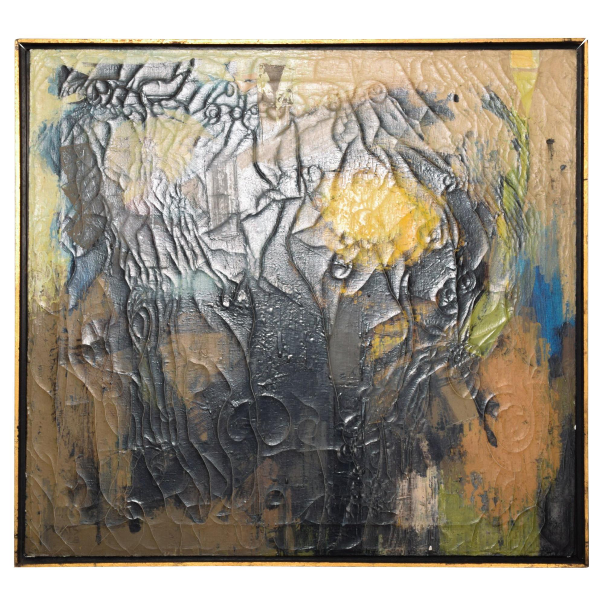 Miguel Alvarez Acosta Abstract Art Oil Painting on Canvas Mexico City 1950s INBA