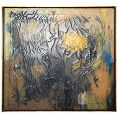 Miguel Alvarez Acosta Oil on Canvas, Abstract #2 Untitled Midcentury, Mexican