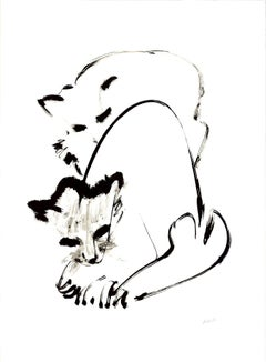 Cat original Tao Art serigraphy by Miguel Angel Batalla