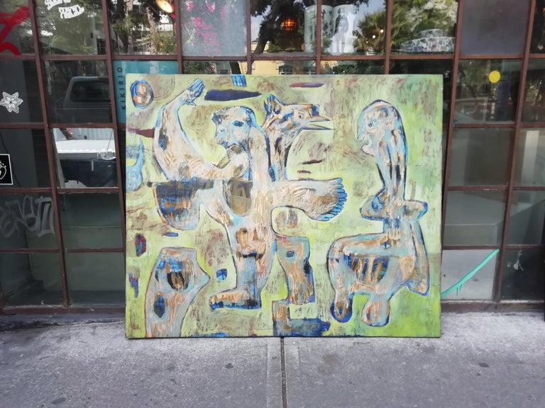 Impressive acrylic on canvas painting titled