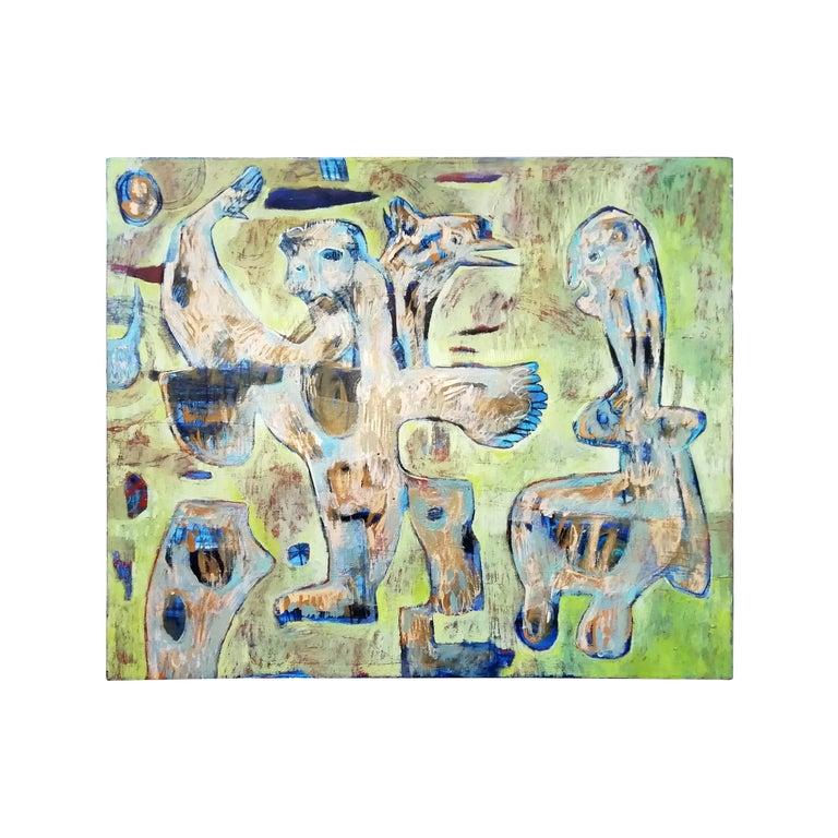 Miguel Ángel Cordera, Nube Paralela 'Parallel Cloud', Acrylic on Canvas For Sale