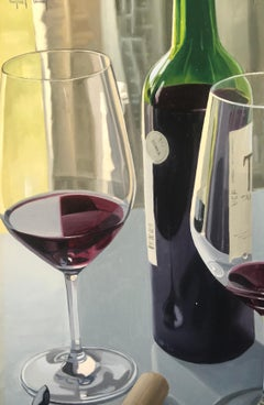 Contemporary Still life 'Fine Wine' by Angel Nunez