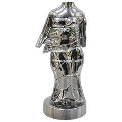 Miguel Berrocal La Mini Cariatide Nickel-Plated Puzzle Sculpture Box and Book