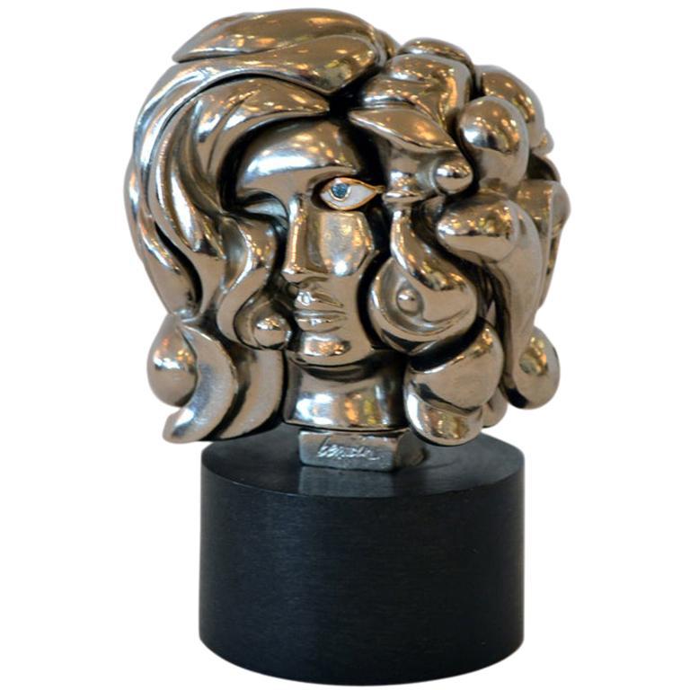 """Miguel Berrocal """"Portrait de Michelle"""" Puzzle Sculpture, Italy 1969"""