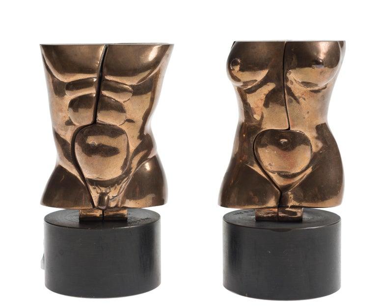 Miguel Berrocal Nude Sculpture - Otto/Opus 348 and Otra/Opus 349 - Original Bronze Sculpture by M. Berrocal