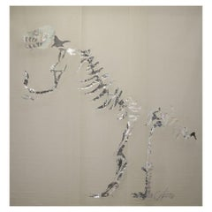 Miguel Cisterna, Le Dinosaure, Large-scale Hand-embroidered Screen, France, 2014