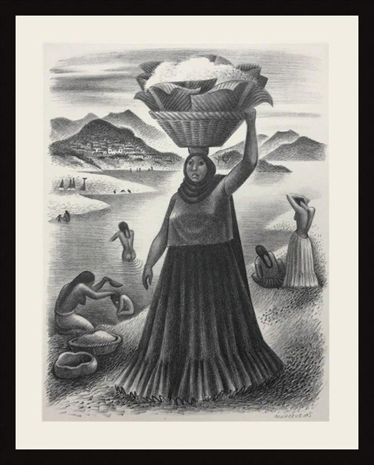 Miguel Covarrubias Landscape Print - TEHAUNTEPEC RIVER