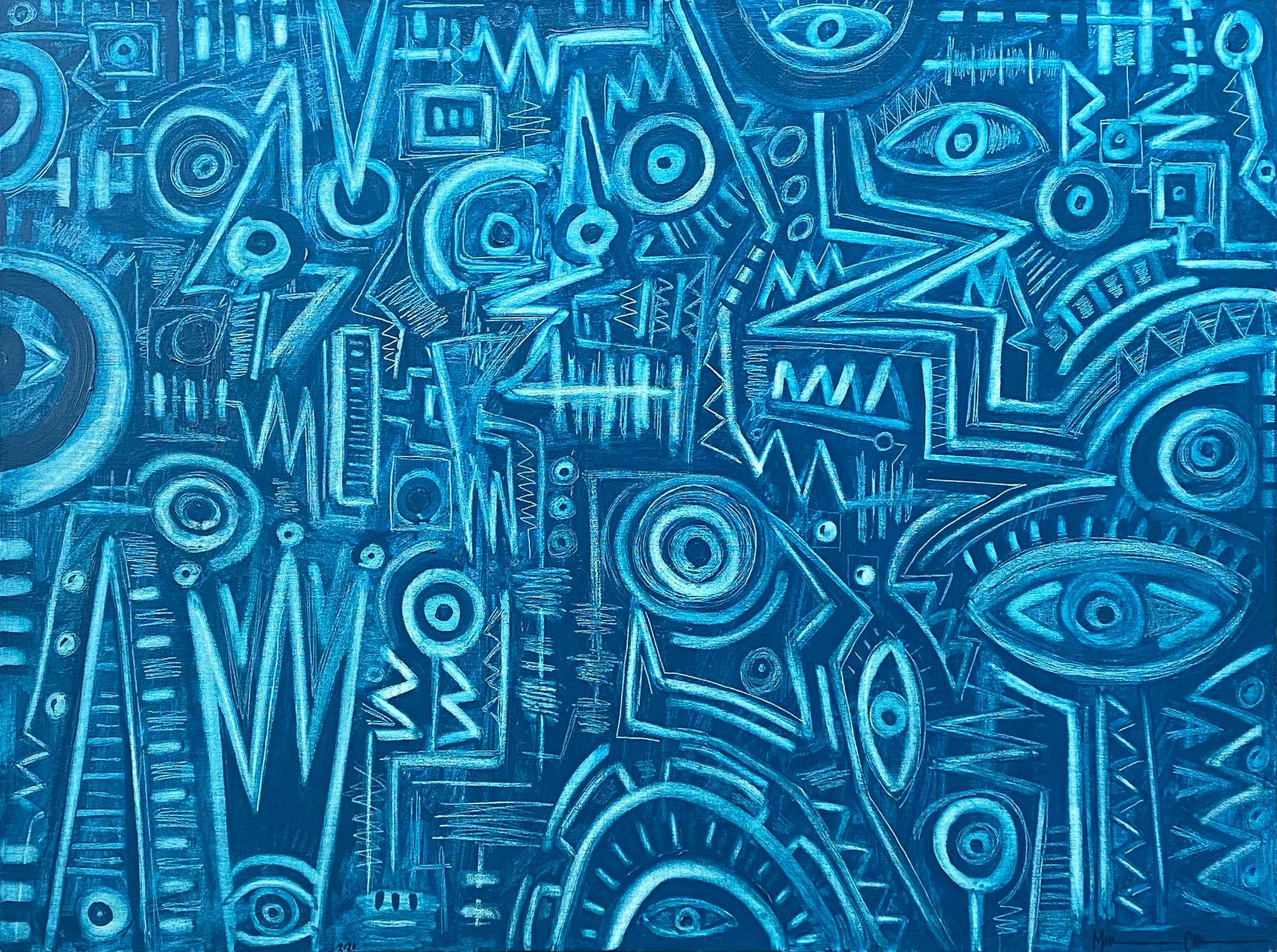 Aquamarine, Contemporary Art, Abstract Painting, 21st Century