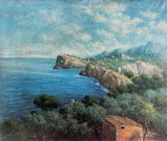 Coast Valldemosa Mallorca Spain oil on canvas painting