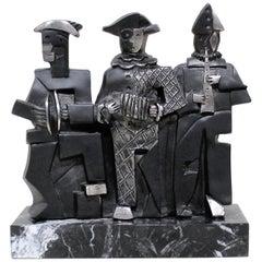 Miguel Guia Sculpture of Three Cubist Musicians