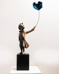 A boy with Balloon 76 – Miguel Guía Street Art Cast bronze Sculpture Big