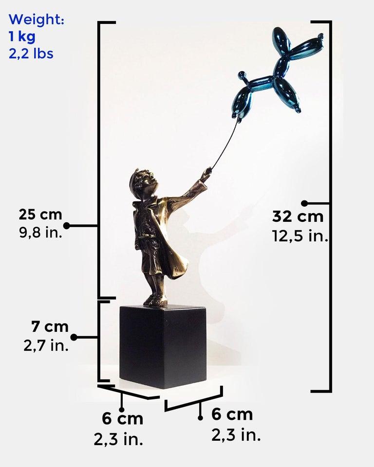 Child with balloon dog - Miguel Guía Street Art Cast bronze Sculpture 3