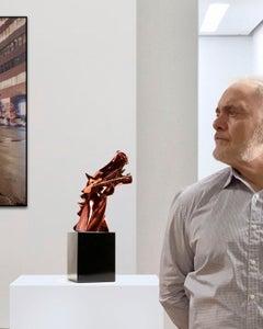 Cubist Horse Guernica Red - Miguel Guía Cubist Bronze layer Sculpture