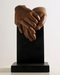 Do you feel the same? - Miguel Guía Realist Bronze layer Sculpture Figurative