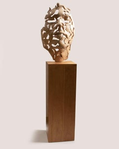 Essence of Youth Wood 72 – Miguel Guía Neo-Expressionist Birch wood Sculpture
